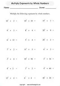 multiply exponents by whole numbers math worksheet great