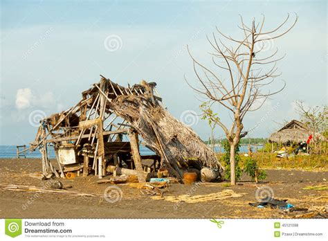 hut indonesia hut on the indonesia bali stock photo