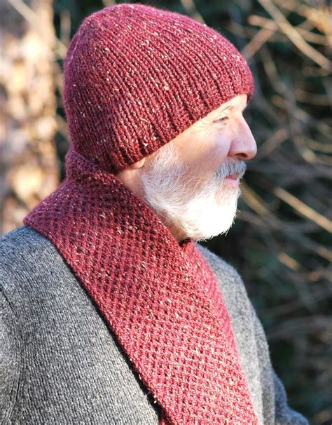 knitting patterns hat scarf combination men s double knit hat scarf combo loom knitting free