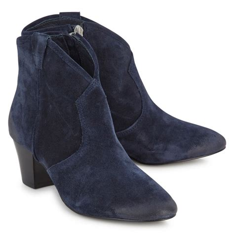 ash spiral brushed suede ankle boots in blue navy lyst