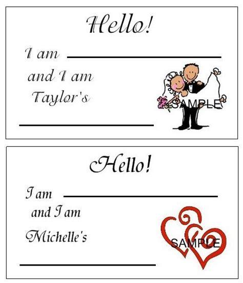 printable name tags for bridal shower wedding bridal shower name tags label favor 100 desig ebay