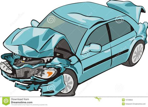 wrecked car clipart wrecked car cartoon