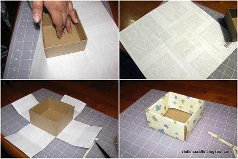 Decoupage Cardboard Box - rad linc crafts decoupage box