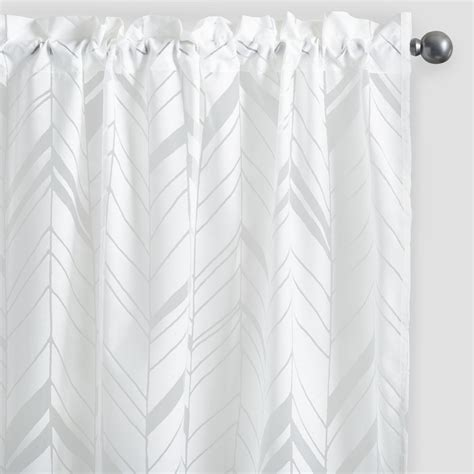white sheer window curtains white arrow burnout sheer curtains set of 2 world market