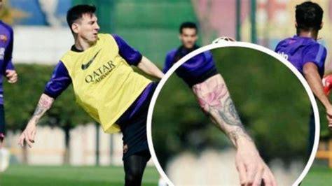 tattoo de lionel messi en el brazo la verdad sobre el tatuaje de messi en el brazo su hijo