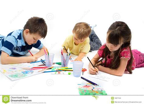Floor Plan Designers by Children Drawing Stock Images Image 1827104