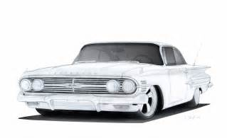 1960 chevrolet impala pro touring drawing by vertualissimo