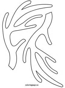 Antler Template by Antlers Template Coloring Pages