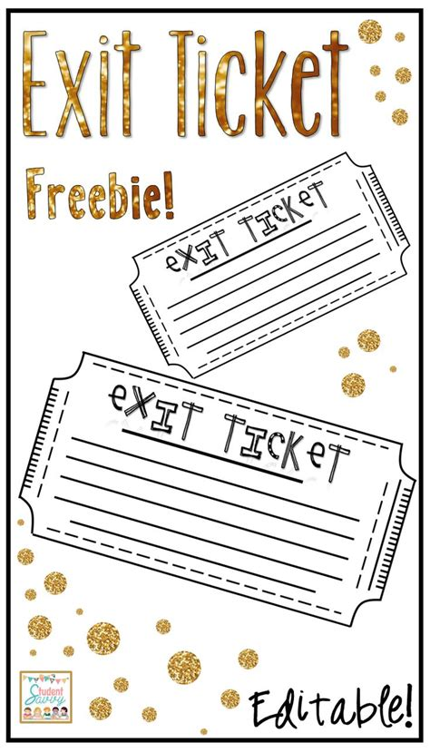 ticket out the door template 1000 ideas about exit ticket board on exit