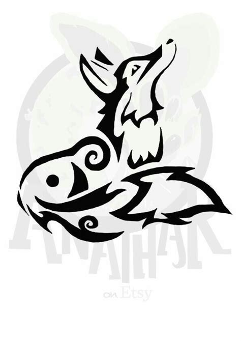 tribal coyote tattoos best 25 coyote ideas on fox tattoos