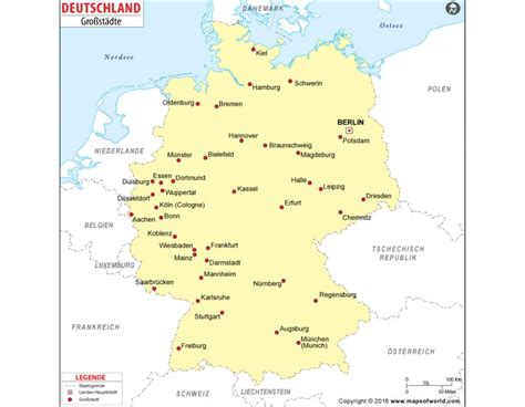 germany major cities map buy germany major cities map
