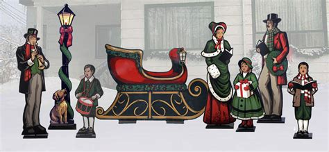 life size victorian carolers lawn display yard art