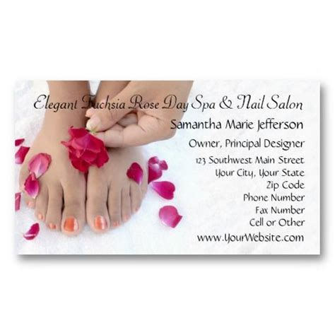 salon business card templates 15 best nail salon business cards images on
