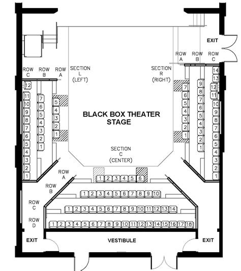 Award Winning Open Floor Plans seating charts theatre arts uw la crosse