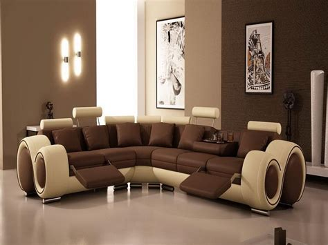 Sofa Color Ideas For Living Room Contemporary Living Room Interior Design Ideas Using Brown Wall Paint Color With Beige Brown