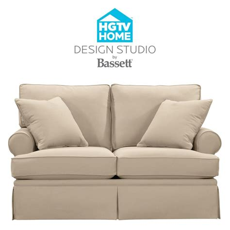 hgtv home design studio bassett hgtv home design studio 4000 42 customizable loveseat great american home store love