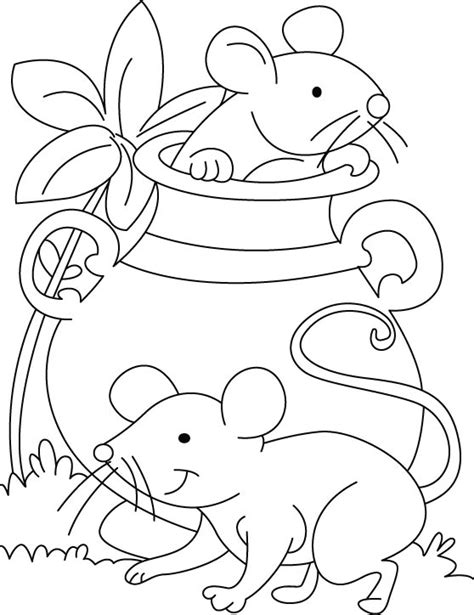 mouse playing hide n seek coloring pages download free