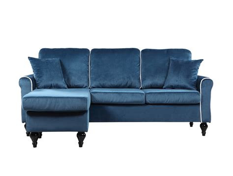 blue sectional with chaise traditional small space blue velvet sectional sofa with