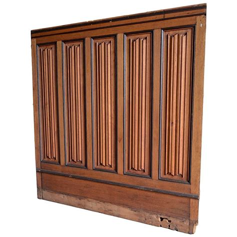 Walnut Wainscoting Panels Linen Fold Wainscoting In Oak And Black Walnut For Sale At