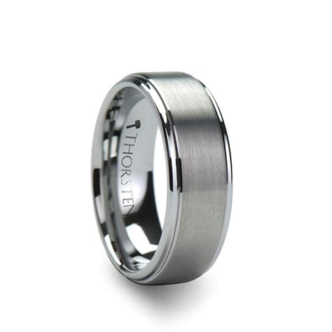Wedding Bands Hq by Andros Brushed Silver Tungsten Wedding Band For