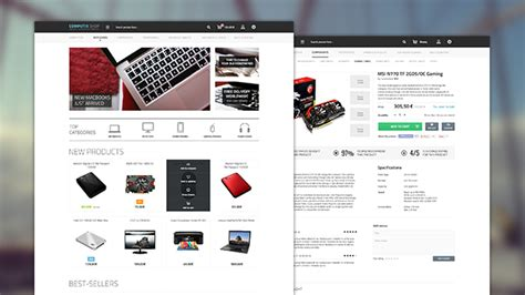 Computix Store Eshop Website Template Free Psd Psdexplorer Eshop Template