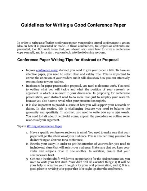 how to write call for papers writing a conference paper 28 images ty how to write a