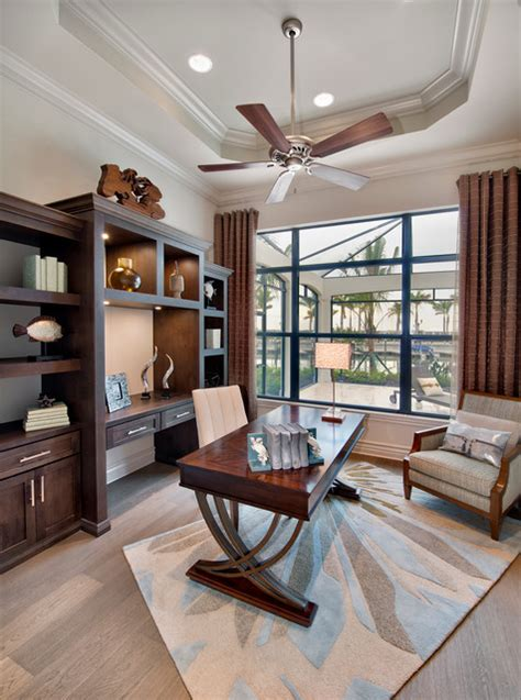 san michele transitional home office miami  harbourside custom homes