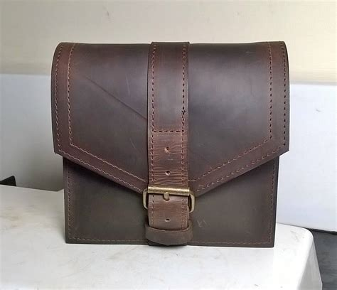 Handmade Leather Bags Uk - gentleman s leather belt bag leather tool bag leather