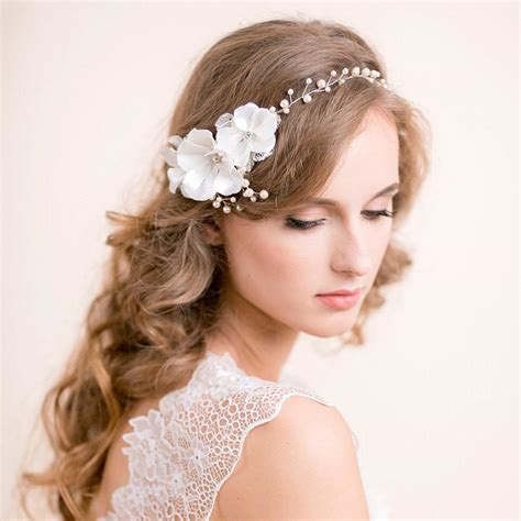 Wedding Hair Vine Accessories by Wedding Hair Vine With Blossoms Floral Pearl Vine Hair