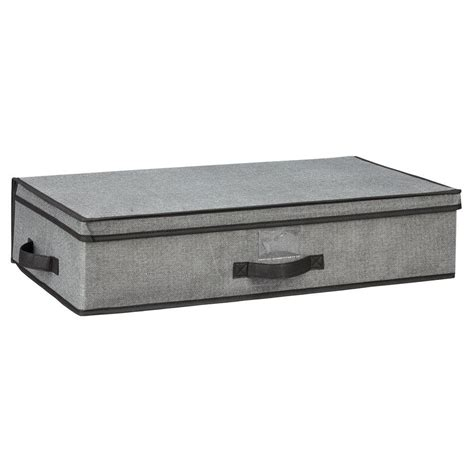 under bed storage boxes simplify 16 in x 6 in x 28 in under the bed grey