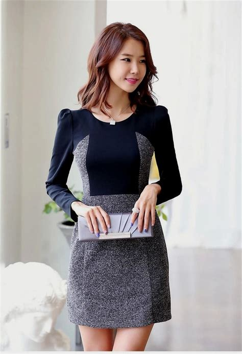 Dress Korea simple korean formal dress naf dresses