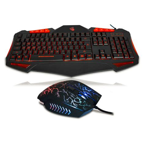 Keyboard Mouse Komputer new led gaming keyboard mouse set wired colorful illuminated keyboard and mouse set for pc usb