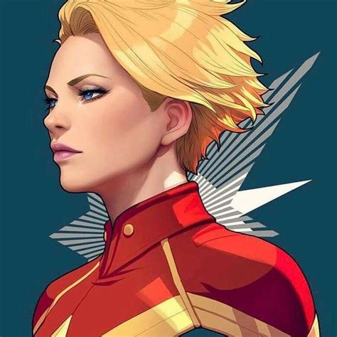 female comic book characters with blonde hair short captain marvel carol danvers by artgerm marvel