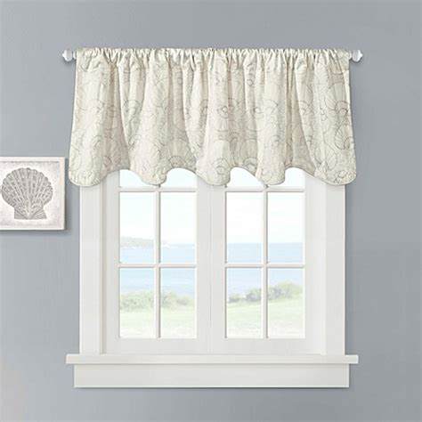 seashell curtains valances buy seashell valance from bed bath beyond