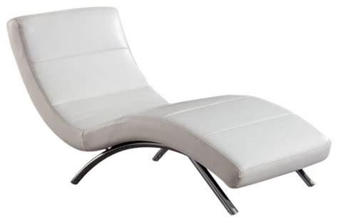 white leather chaise lounge indoor global furniture usa r820 leather chaise lounge in white