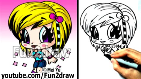 fun2draw how to draw cartoon people how to draw people how to draw a cool scene girl learn