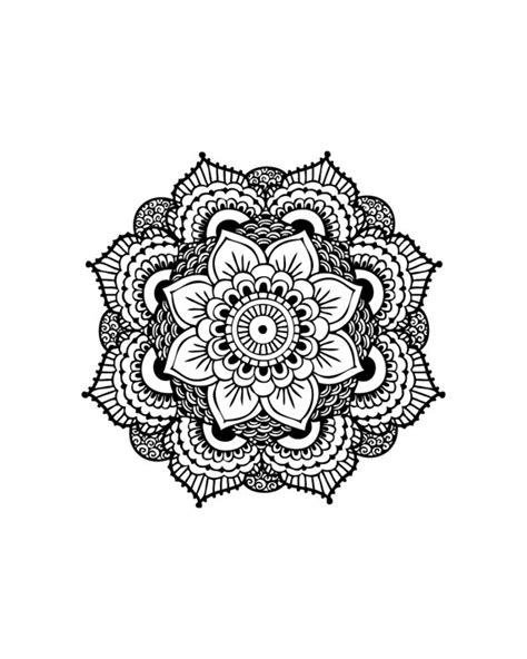 mandala temporary tattoo set of 2 gift for her yoga gift