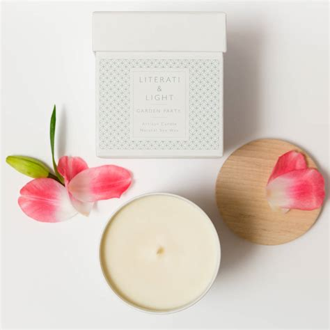 Flora Scented Soy Wax Candle Garden Luxury Soy Floral Scented Candle By