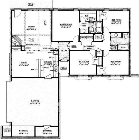 ranch house plans 1500 square the