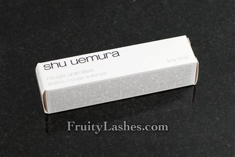 Unlimited Or 540 shu uemura unlimited lipstick or 540 swatch and