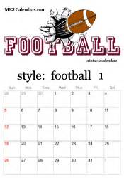 Football Calendar Template printable football calendars personalized sports
