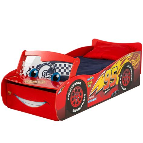 cars toddler bed disney cars lightning mcqueen feature toddler bed with