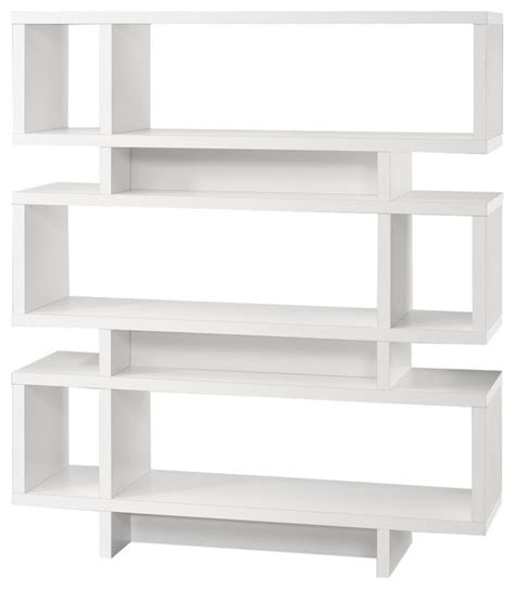 white modern bookshelves ziggy bookcase white modern bookcases by monarch