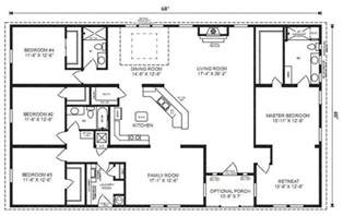 4 bedroom 3 bath house plans 5 bedroom 4 bath rectangle floor plan google search
