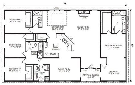 4 bedroom rectangular house plans 5 bedroom 4 bath rectangle floor plan google search