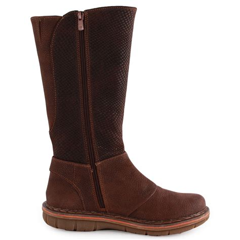 432 zip womens leather brown boots new shoes all sizes