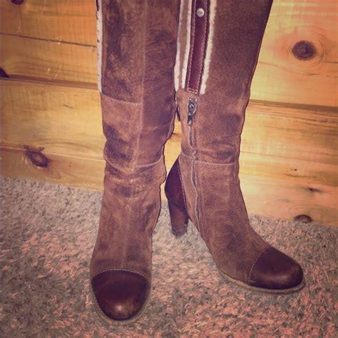 wide calf high heeled boots ugg ugg boots high heels suede knee high wide calf from