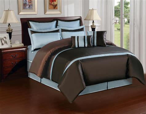 brown bed sets bedroom queen size bed with brown blue and yellow bedding