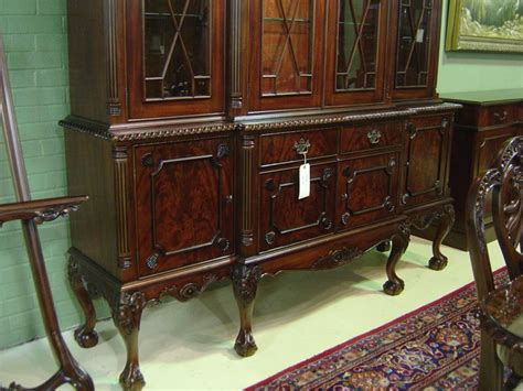 ball claw mahogany dining room china cabinet  gadroon