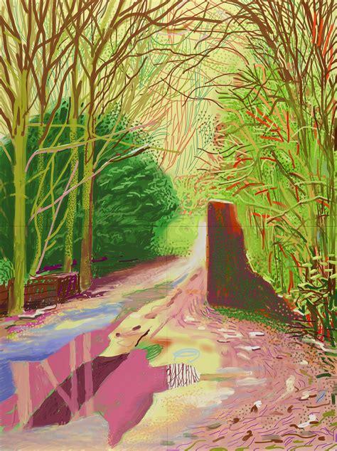 exhibition david hockney current at ngv international melbourne art blart